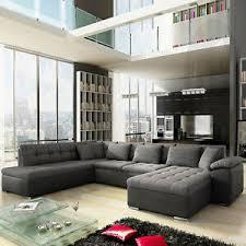 details zu große ecksofa eckcouch sofa mit schlaffunktion wohnzimmer wohnlandschaft