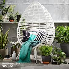 Kmart Beach Chairs Australia by Teardrop Wicker Chair Outdoor Styling Kmart Hack City Bish