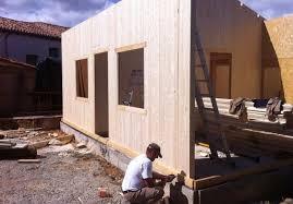 maison bois lamelle colle maison modulaire contemporaine à ossature bois en bois