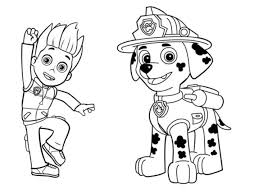 Nickelodeon Paw Patrol Printable Coloring Pages