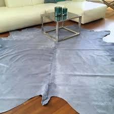 kuhfell teppich glicine silber blau ca 5 m gutraum8 luxus fell