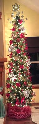 Pencil Thin Tree Lit Trees Slim 6ft Christmas Sale 7 Ft Green Artificial With Lights