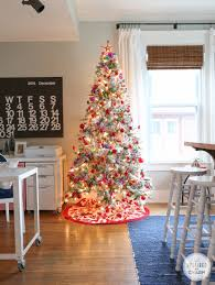 Christmas Tree Decorations Ideas 2014 by Flocked Christmas Tree Decorating Christmas Lights Decoration