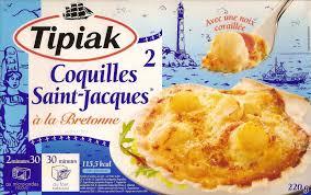 cuisiner les coquilles st jacques surgel馥s 2 coquilles jacques à la bretonne surgelées tipiak 220 g