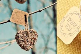 DIY Bird Seed Heart Spring Wedding Favor Tutorial Scroll Down