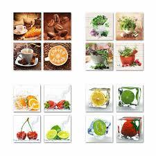 neu acrylglasbilder bild deko glas glasbild kaffee küche