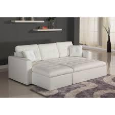 canapé d angle lit d angle convertible blanc toledo