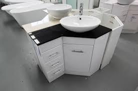 Small Wall Mounted Corner Bathroom Sink by Space Saver Corner Bathroom Vanity Inspiration Home Designs