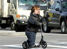 Peter Dinklage On A Razor Scooter That Is All