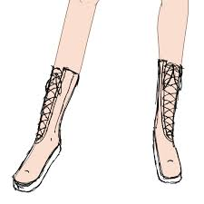 6 Add Details To The Boots By Sketching Laces And Zips