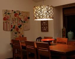 Outstanding Rectangular Lamp Shades Dining Room With Chandelier Of Boxes On