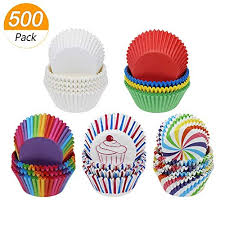 Meetory 500 Pack Paper Cupcake Cases Baking Cup Liners For Birthday Wedding