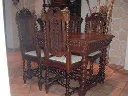 esszimmer antik tisch mit 4 stühlen