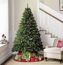 Pre Lit Led Christmas Trees Walmart by Holiday Showtime 7 U0027 Pre Lit Diamond Peak Tree