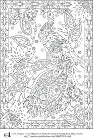 Printable Coloring Book Pages For Adults Pdf Free Colouring Dementia Patients Adult Peacock Medium Size