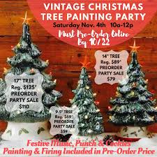 Vintage Christmas Tree Painting Party The Pottery Piazza