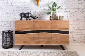 wohnling sideboard satara wl5 194 aus akazie massivholz