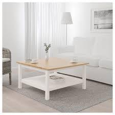 hemnes coffee table white stain light brown 90x90 cm