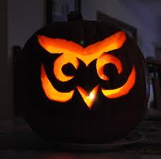 Owl Pumpkin Template by Easy Owl Jack O Lantern Patterns Scary Pumpkin Carving Pattern