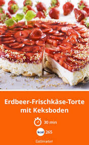 erdbeer frischkäse torte mit keksboden