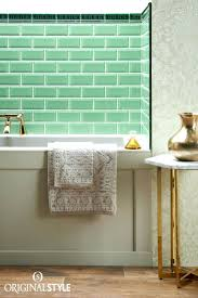 ceramic subway tiles for kitchen backsplash light green subway