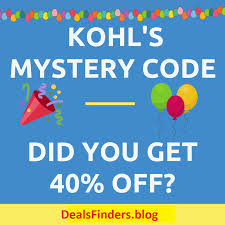 Deals Finders | Kohl's Mystery Code: Did You Get A Kohl's 40 ... Official Kohls More Deal Chat Thread Page 1266 Cardholders Stacking Discounts Home Slickdealsnet 30 Off Coupon Code In Store And Online August 2019 Coupons Shopping Deals Promo Codes January 20 Linda Horton On Twitter Uh Oh Im About To Enter The Coupon 10 Off 25 Cash Wralcom Calamo Saving Is Virtue 16 On Average Using April 2018 In Store Lifetouch Code Cyber Monday Sales Deals 20 Tablet Pc Samsung Galaxy Note 101 16gb Off Free Shipping