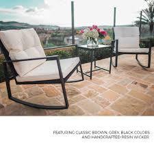 100 Black Outdoor Rocking Chairs Under 100 SUNCROWN 3Piece Wicker Bistro Set Wicker