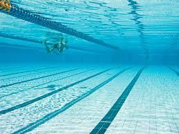 Pool Underwater Swim Laps Blue