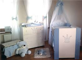 klups krone babybett mit wickelkommode blau