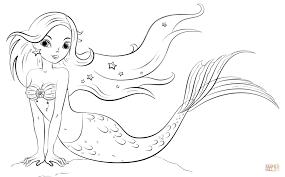 Mermaid Coloring Page Free Printable Pages