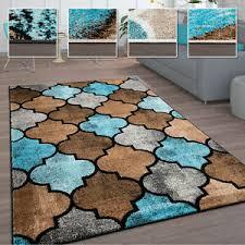 teppich wohnzimmer vintage kurzflor marokkanische muster