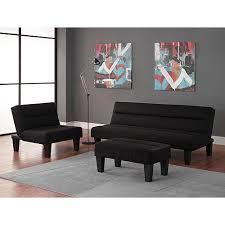 kebo 3 piece living room collection black walmart com