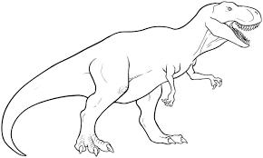 Coloriage Dinosaure Tyrex 1001 Animaux Concernant Coloriage