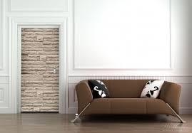 selbstklebende türtapete steinwand grau braun 93 x 205 cm