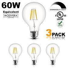 3 pack modvera 60w equal g25 led light bulb decorative bathroom