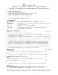 Programming Resume Examples Java Programmer Sample Fresh Web Objective