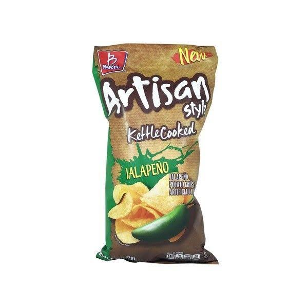 Barcel Kettle Cooked Chips, Jalapeno, Artisan Style - 8 oz