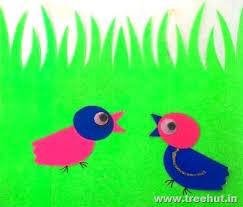Baby Bird Paper Stencil For Craft Idea