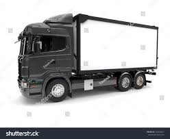 Metallic Dark Gray Modern Refrigerator Truck Stock Illustration ...