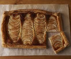 Pear Hazelnut Tart In A Puff Pastry Crust