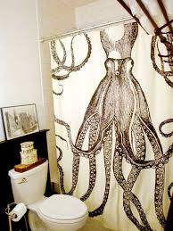Octopus Shower Curtain Eclectic bathroom Design Sponge
