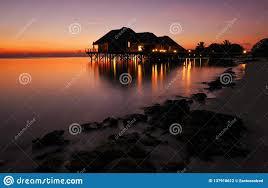 100 Rangali Resort Sunset On Island Stock Photo Image Of Maldivian