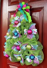 Whimsical Christmas Tree Wreath Deco Mesh By Ofelia Concept Of