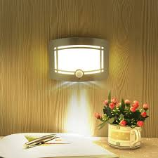 shop motion sensor activated led wall sconce battery