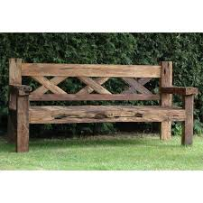 Impressive Great Rustic Wooden Garden Bench 25 Best Ideas About Intended For Outdoor Ordinary