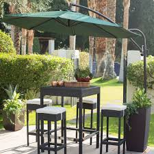 9 Ft Patio Umbrella With Crank by 9 Ft Cantilever Offset Patio Umbrella With Forest Green Shade