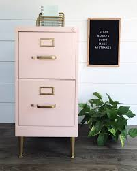 Painted Metal Filing Cabinet ⋆ Chalk Paint Powder
