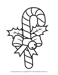 Candy Cane Coloring Pages Kids