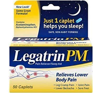 Legatrin Pain Reliever & Sleep Aid - 50 Caplets