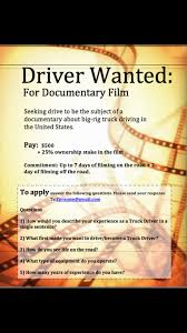 Seeking Input And Drivers For A Documentary Film About Trucking In ... Why We Need Truck Drivers Eft Supply Chain Logistics Business Scania Driving Simulator On Steam Ambient Advert By Aids Day Ads Of The World Work And Rest Sleep Schedules 227 European Truck Drivers Cdl Vehicle Groups Endorsements My Husband Has His Im So Noncdl Cmvs Are Being Denied Medical Cards For Marijuana Rc4wd Gelande Ii Kit Wcruiser Body Set Commercial License Transport Vehicles Students Redesign Fords F150 Pickup Age Mobility Wired Seeking Input A Documentary Film About Trucking In Infiniti Qx56 Nissan Armada Titan Side View 7 Difficulties You Can Face If Mr Driver By Phil